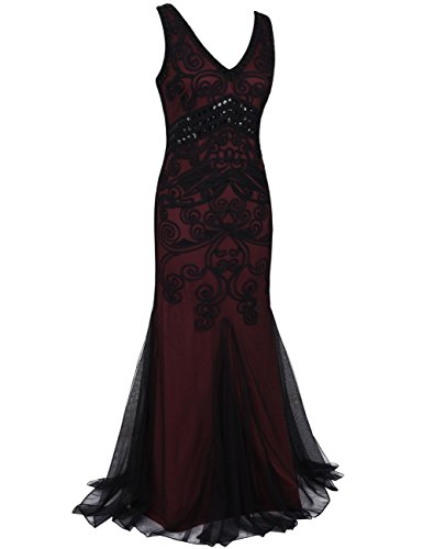 1920 Vestito Lungo Ballo Abiti Sirena Bordeaux Formale Kayamiya Delle Donne Maxi Da Sera gnXqd
