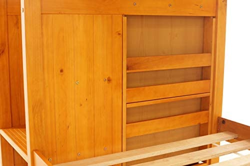 home, kitchen, furniture, bedroom furniture, beds, frames, bases,  beds 5 picture Discovery World Furniture Mission Twin Over Twin Staircase deals