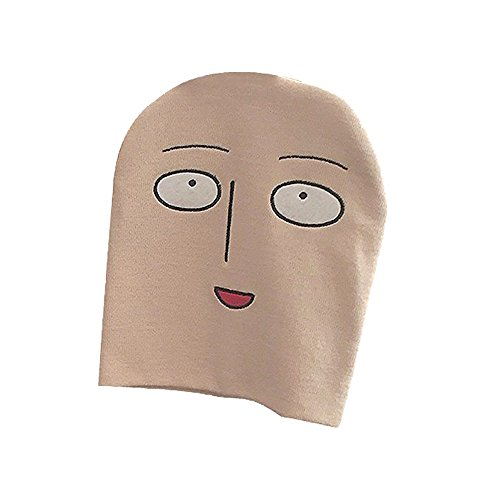 Tokyo-H One Punch Man Saitama Funny Face Knit Cap Cosplay Onepunman Costume