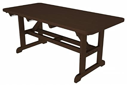 Amazoncom Park Harvester Picnic Table Finish Mahogany Kitchen - Picnic table finish