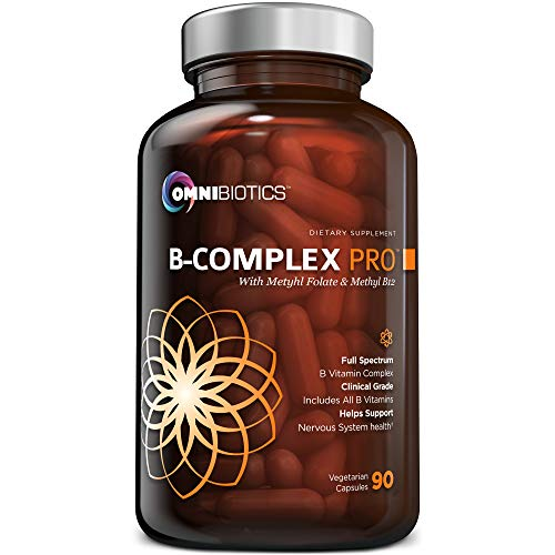 Vitamin B Complex PRO | High-Potency B Complex Vitamins with Methyl B12, Methyl Folate, and All B-Vitamins (B1, B2, B3, B5, B6, B7, B8, B9, B12) | Stress Relief & Energy Support | 90 Vegan Capsules