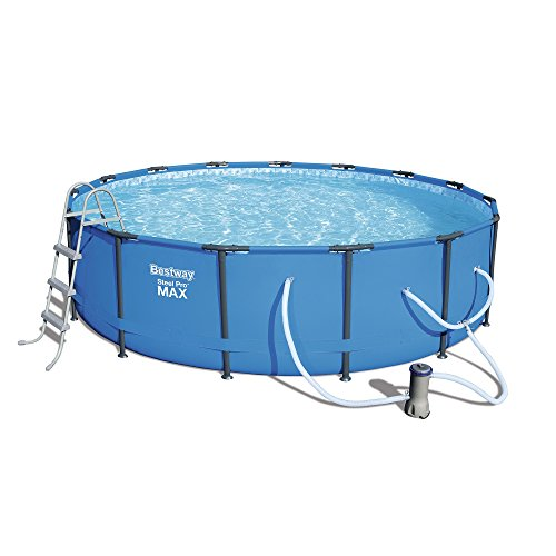 Bestway Steel Pro Max 15-Foot x 42-Inch Frame Swimming Pool Set (Pools Metal Frame Swimming)