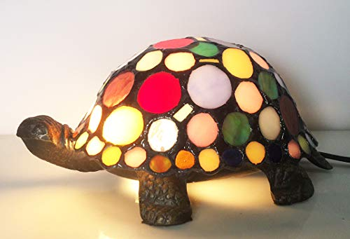 (Stained Glass Animals Tortoise HMJ80011 Art Glass Children Room lamp Tiffany Glass Coffee Shop Small Lamps and Lanterns of Lamps and Lanterns)