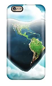 Awesome Case Cover/iphone 6 Defender Case Cover(earth Heart)