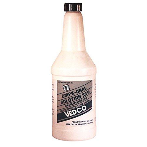Vedco CMPK Oral Solution 33% 12 oz - Calcium, Magnesium, Phosphorus, Potassium Supplement for Cattle by Vedco