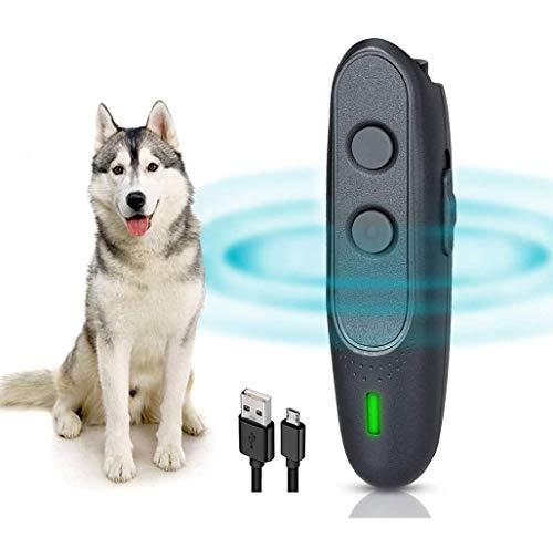 YC° Ultrasonic Anti Barking Device, Handheld Dog Bark Control Devices 16.4FT Range 2 in 1 Stop Dog Barking Devices, Dog…