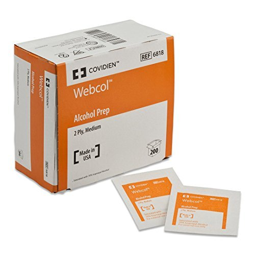 Kendall/Covidien Alcohol Prep Pads - #6818 - 1/Box of 200 by Webcol