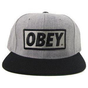84f75ad46a508 Amazon.com  Obey Caps   Hats Snapback (Black and Grey)  Sports   Outdoors