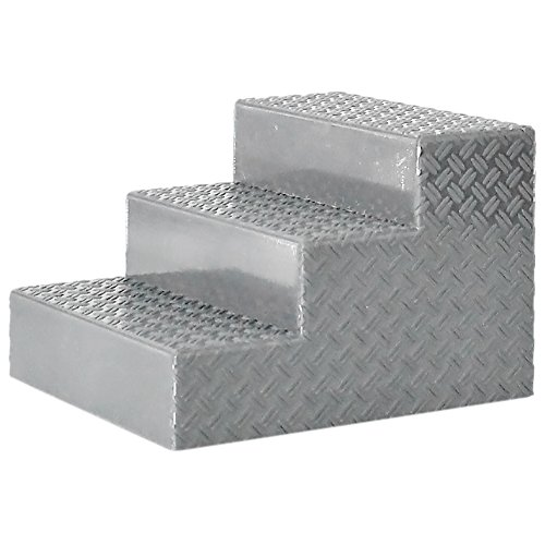 Silver Wrestling Ring Stairs for a WWE Wrestling Action Figure Ring by Figures Toy Company