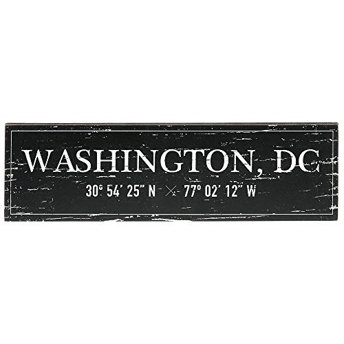 Barnyard Designs Washington, DC City Sign Rustic Vintage Wood Wall Art Home Decor 17