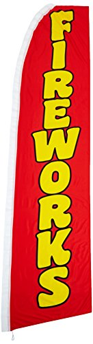 Quality Standard Flags Fireworks Super Flag, 11.5 by 2.5′, Red Review