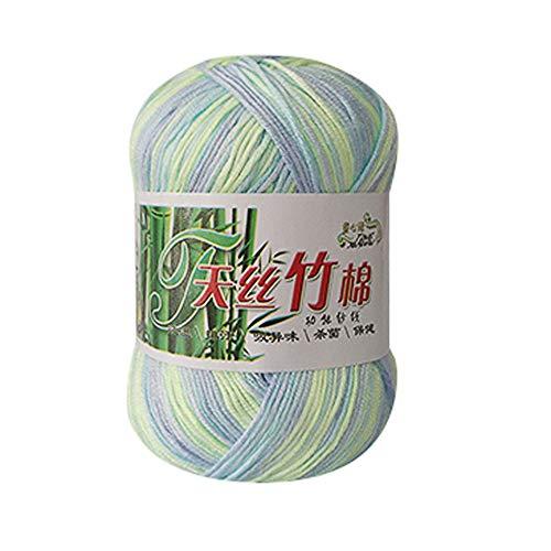 Clearance Sale! Rainbow Yarns for Knitting Crochet Craft,KFSO Hand Knitting Knicker Bamboo Cotton Yarn Crochet Soft Scarf Sweater Hat Yarn Knitwear Wool (I) ()