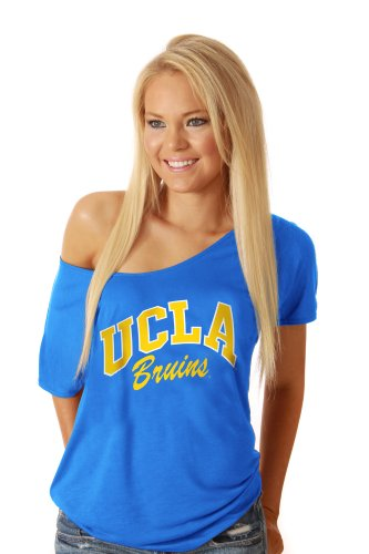 Simply Sporty NCAA UCLA Bruins 2230 Off The Shoulder Tee, Blue, Small