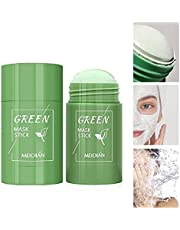 Green Tea Purifying Clay Stick Mask Oil Control Anti-Acne, Blackhead Remover, Natural Face Moisturizes Oil Control, Deep Clean Pore, Improves Skin for All Skin Types Men Women