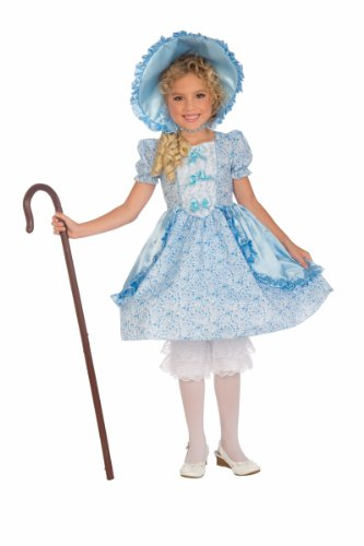 Forum Novelties Girls Lil' Bo Peep Costume, Small, One Color (Peep Costumes)