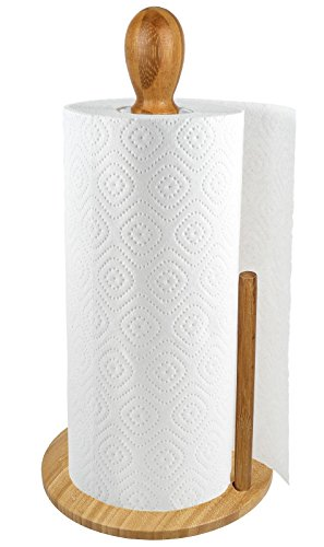 (Greenco Counter Top Bamboo Paper Towel Holder)