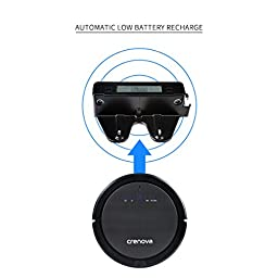 Crenova Robot Vacuum Cleaner with Invisible Wall Fully Aucomatic Self-Charging Ultrasonic Obstacle and Duty Dection