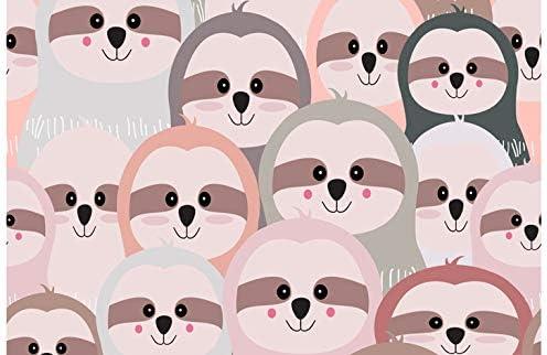 Student Gift #8361 Cute Sloth Pattern Cartoon Art Print Black Ballpoint Pen