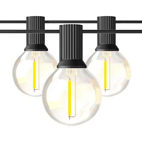 BRIMAX G40 Cadena de Luces Impermeable IP45 50ft, Guirnaldas Luminosas de Exterior para Navidad Terraza Hogar Jardín…