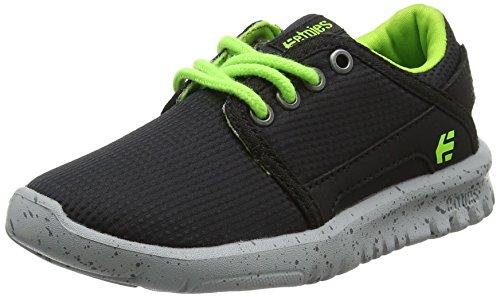 etnies Scout, Zapatillas de Skateboard Unisex Niños Negro (Black/lime)