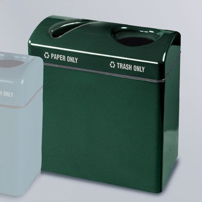 Hunter Green Receptacle Lid - 46-Gal Barclay Large Multi Compartment Recycling Bin Finish/Color: Standard Hunter Green