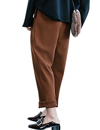 Youlee Donna Vita elastica Pantaloni gamba larga Pantaloni Harem