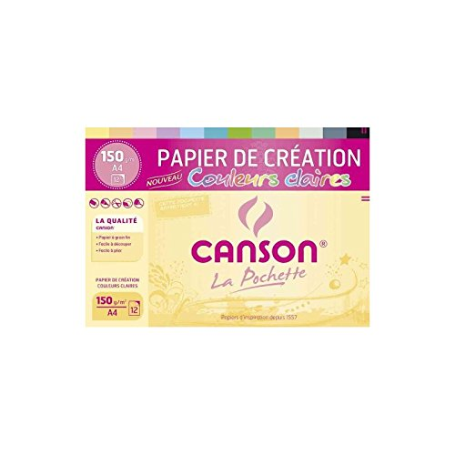 CANSON 200002760 - Carta colorata in cartoncino, formato DIN A4, 150 g/m²