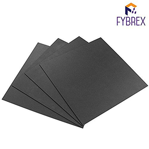 FYBREX Set of 4 Black Square ABS Sheets 12