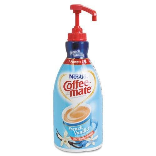 Creamer Pump Dispenser - - Liquid Coffee Creamer, French Vanilla, 1500mL Pump Bottle by Coffee-mate by Coffee-mate