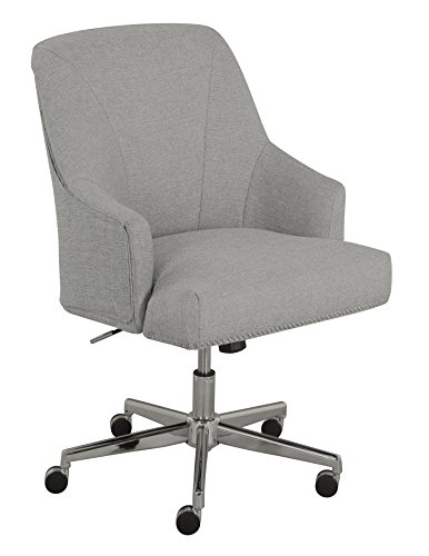 serta leighton home office chair, light gray