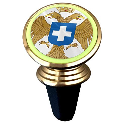 Sword Coat of Arms of The Byzantine Kingdom of Greece Universal Magnetic Luminous Rotary Car Phone Holder Air Vent Mount Phone Mount Coat Of Arms Swords