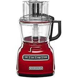 KitchenAid 9-Cup Wide Mouth Food Processor RKFP0930er Large Exact Slice Red (Certified Refurbished)
