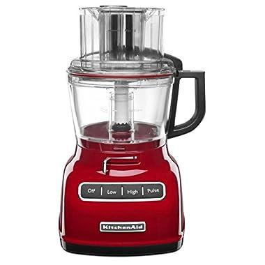 KitchenAid 9-Cup Wide Mouth Food Processor RKFP0930er Large Exact Slice Red (Certified Refurbished)