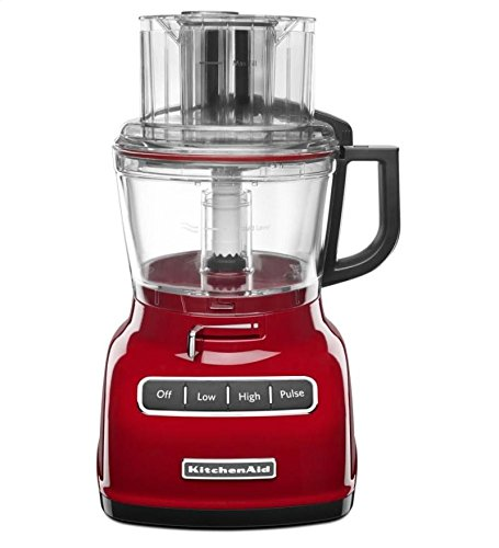 KitchenAid 9-Cup Wide Mouth Food Processor RKFP0930er Large Exact Slice Red (Renewed) (Best Full Size Food Processor)