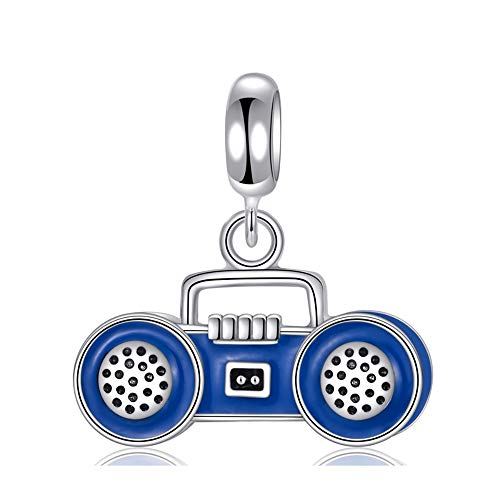 Stepforward Classic Blue Enamel 925 Real Silver Radio for sale  Delivered anywhere in Canada