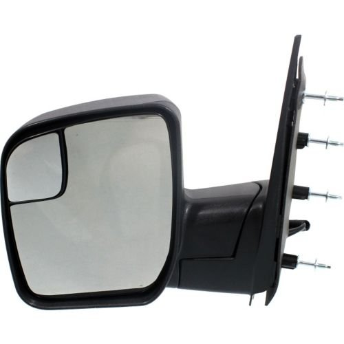 Make Auto Parts Manufacturing - ECONOLINE VAN 10-14 MIRROR LH, Power, Non-Heated, Manual Folding, Textured Black - FO1320396