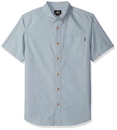 O'Neill Men's Banks Short Sleeve Woven Shirt, Dust Blue, M by O'Neill
