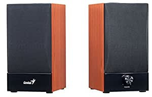 Genius SP-HF360B - Altavoces de ordenador de 10 W (2 unidades), marrón