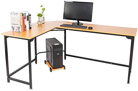Mesa esquinera de madera Cypressshop, para ordenador portátil, en ...