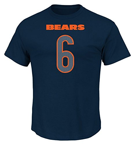 Jay Cutler Shirt - VF LSG NFL Chicago Bears Jay Cutler Men's 6 Athletic Coordinator Tee, Large, Navy