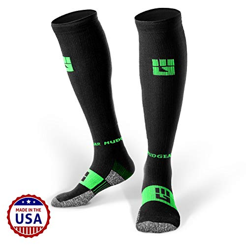 MudGear Premium Compression Socks - Mens & Womens Running Hiking Trail (1 ()