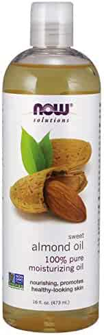 NOW Solutions, Sweet Almond Oil, 100% Pure Moisturizing Oil, Promotes Healthy-Looking Skin, 16 Fl Oz (1 Count)