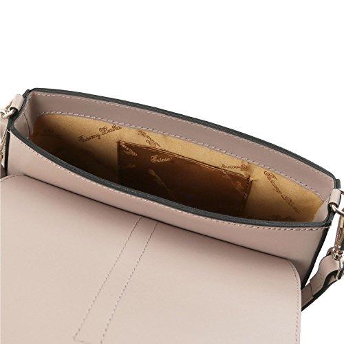 Tuscany Leather Nausica Borsa a tracolla in pelle Magenta Talpa chiaro