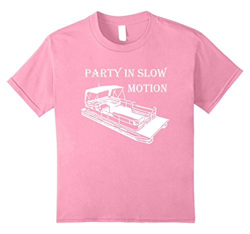Price comparison product image Kids PARTY IN SLOW MOTION Pontoon Boat Shirt | DHX T-Shirts 10 Pink