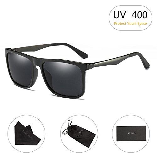 Wayfarer Sunglasses RAYSUN Men's Square Retro Driving Polarized Sun - For Hiking Best Sunglasses