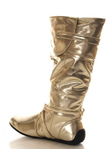 Damen Stiefel Gold # 3053