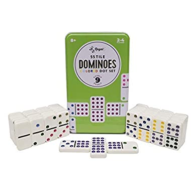 Regal Games Double 9 Dominoes in Reusable Tin Case