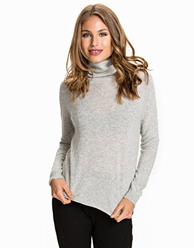 Ilse Light Grey Mujer Knit L Object s Melange Pullover HxnBwpwPq