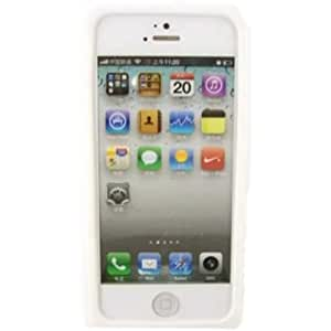 Retro Cassette Silicona Caso Cubrir Concha Para Apple iPhone 5 5S / White