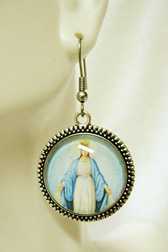 Miraculous medal earrings - AP06-014 ()